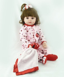 "NPK 23"" Full body Silicone bebe doll reborn boy doll toy for children xmas gift bebe alive bonecas reborn de silicone(China)"