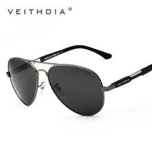 Veithdia hombres gafas de sol polarizadas de aluminio magnesio gafas de sol masculinas de conducción pesca conducción eyewears accesorios hombres 6695