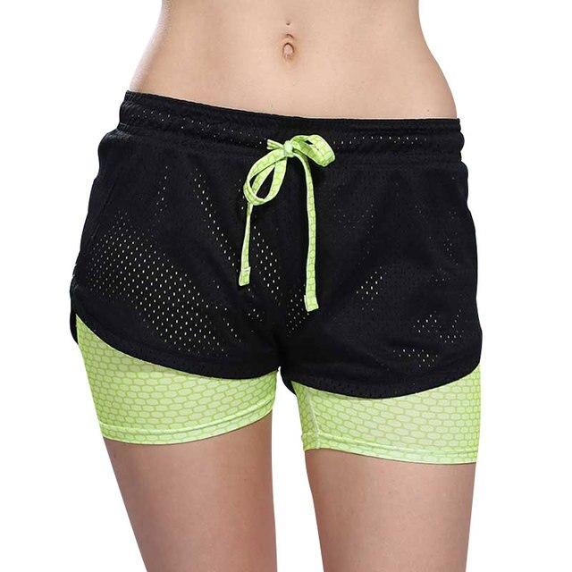 2b62b3d6f9 Pantalones cortos para correr para mujer 2 en 1 mallas para correr 2018  para mujer pantalones