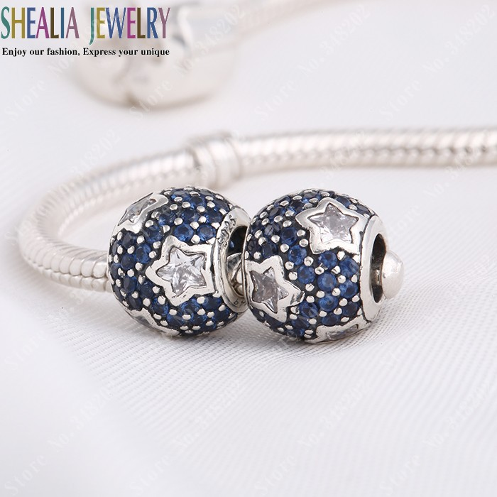 535289e59 ... czech pandora midnight blue charm authentic pandora blue pave star  63715 e8548