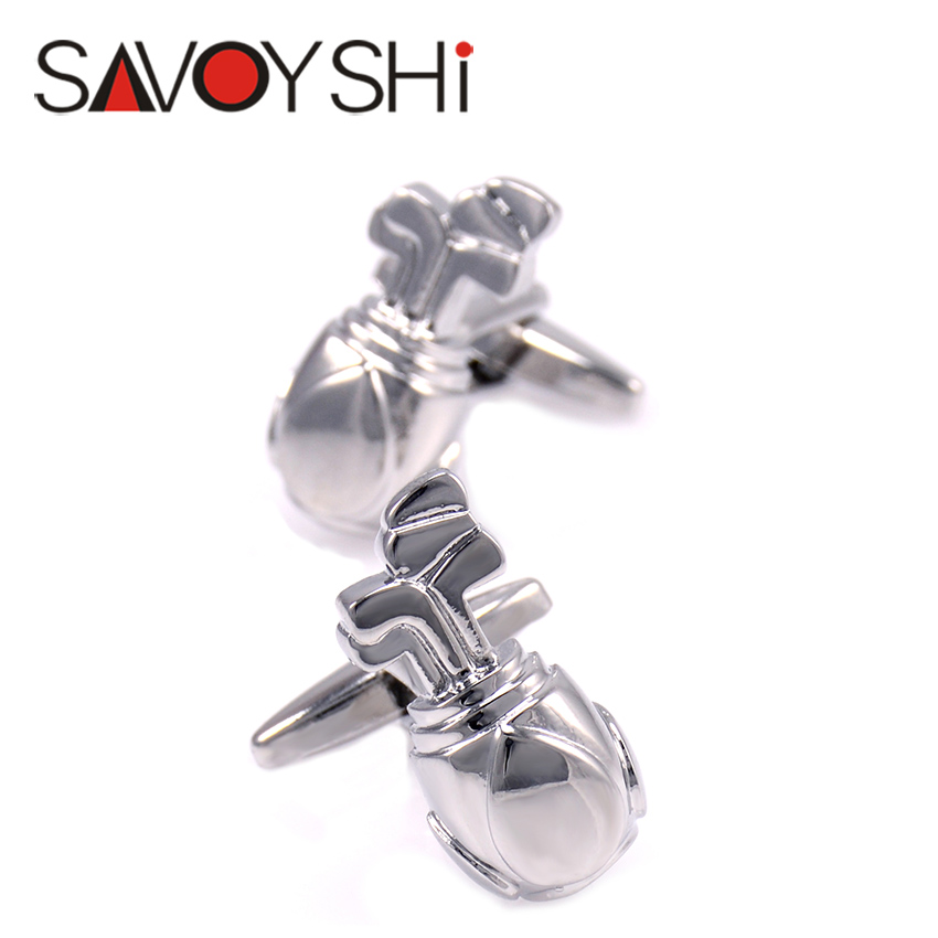Golf bags Cufflinks for Mens Shirt Cuff bottons High Quality Novelty Copper Cufflinks Fashion SAVOYSHI Brand Jewelry Design