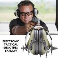 Защита для ушей электронные тактические наушники для стрельбы Защита слуха наушники с шумоподавлением мягкая шумоподавляющая гарнитура