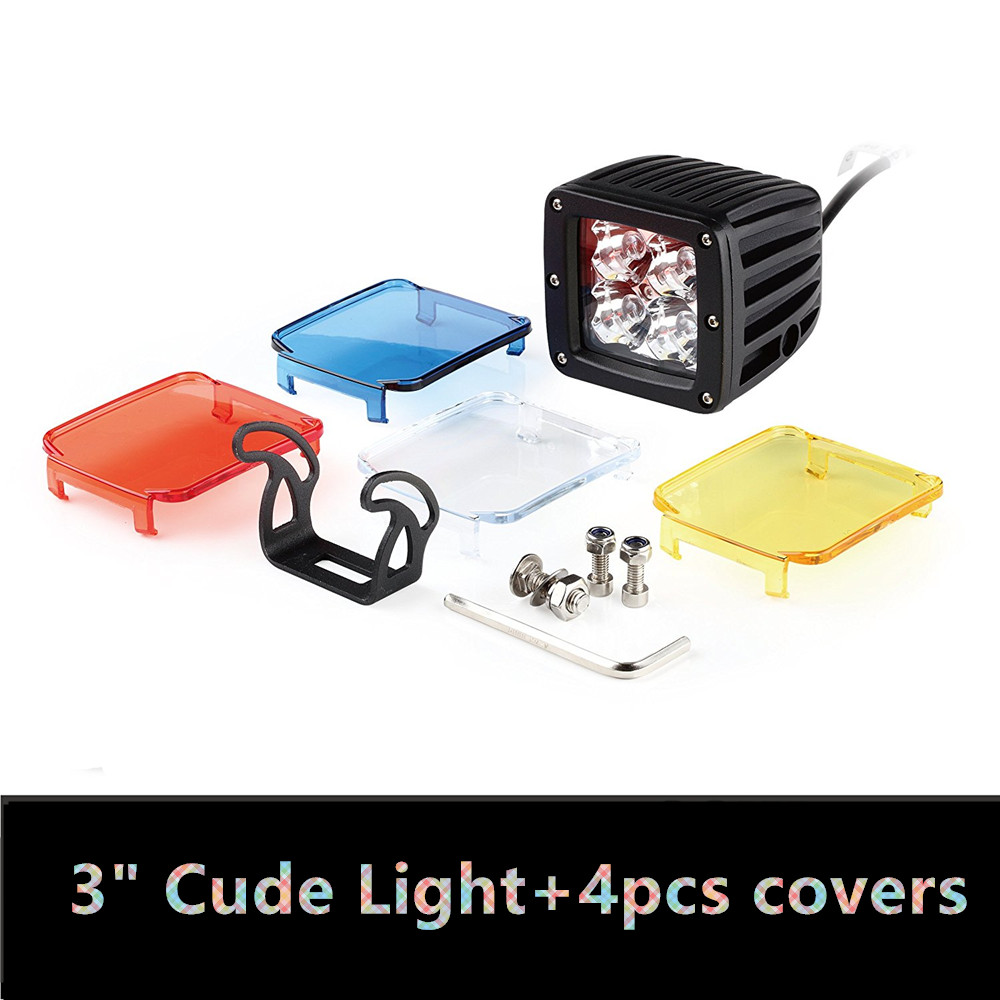 Led Cube Light 3 inch LED Work Light  Driving Fog Light Pods 3D For SUV Boat Truck ATV Car With Amber, Blue, Red, White Covers 17 inch 60w led light bar for work driving offroad boat car truck 4x4 suv atv fog with the skull background light