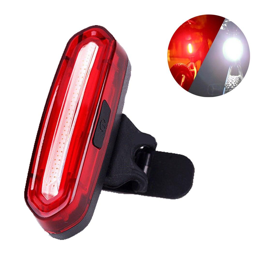 USB recargable luces bicicleta de montaña luz de advertencia LED Super brillante cambio bicicleta ciclismo USB carga luz trasera