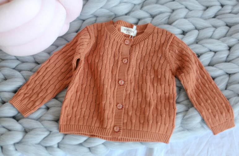 New Toddler Cardigan Boys Girls Candy Color Knitted Cardigan