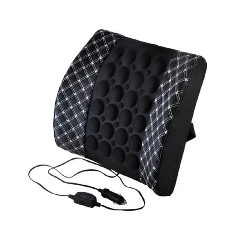 Автомобильное сиденье поясничная поддержка с DC 12 В автомобильный массаж вибрационная поясная подушка поясничная Подушка для спины облегчение боли в спине автомобильные аксессуары
