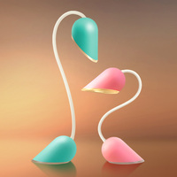 ZjRight double Led USB rechargeable desk lamp Romantic Heart Shape Collapsible student study table lamp kid gift led night light
