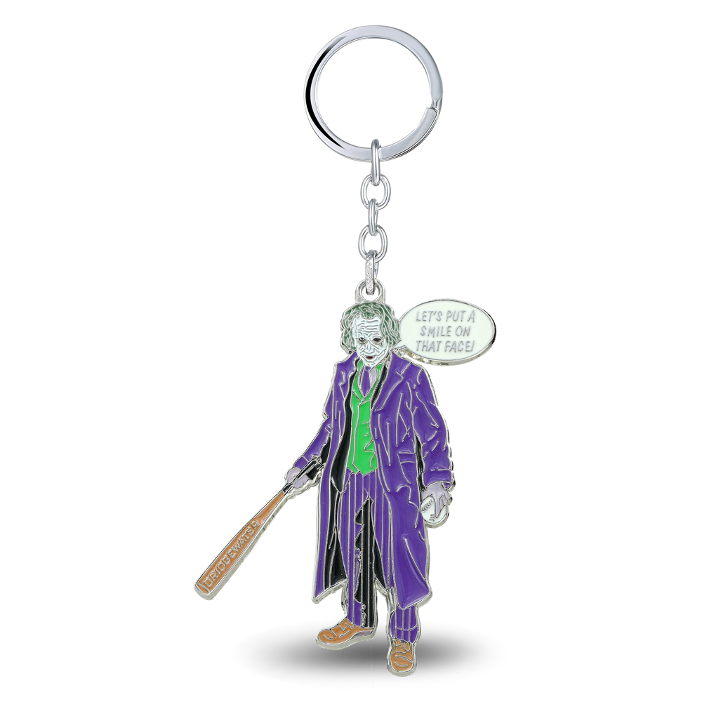 MS JEWELS Movie Show Jewelry Batman Joker Keychain Metal Key Rings For Gift Chaveiro Key Chain