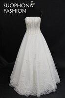 Vestido De Noiva White Ball Gown Wedding Dress 2017 Hand Beading Puffy Vestido Noiva China Bridal