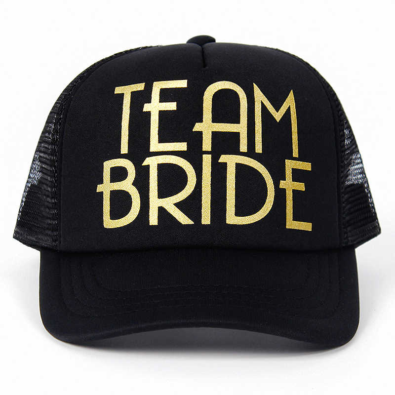 c702c27b32a ... Most Popular Team Bride Baseball Cap Mesh Hat BRIDE Gold Print Woman  Party Holiday Ready to ...