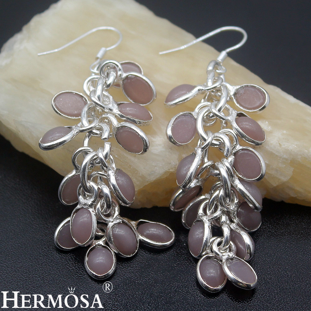 Exotic fashion jewelry - Exotic Fashion Jared Jewelry Dangle Beauty Classic Handmade Charms Sterling Silver Womens Drop Earrings 72mm Ny424