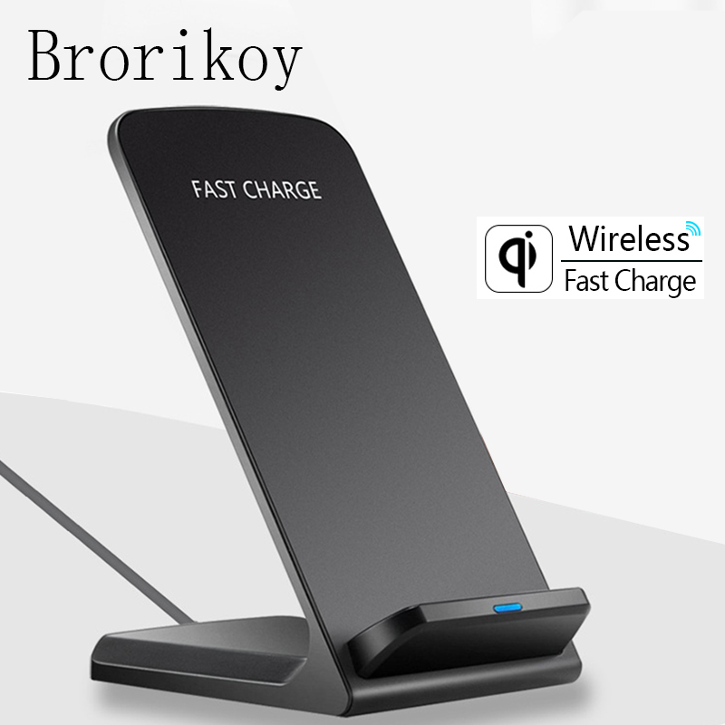 Wireless Charger for Samsung S6 S7 Edge S8 S9 Plus Note 5 8 Fast Charging Dock Stand Desk for iPhone X 8 QI Wireless Chargers(China)