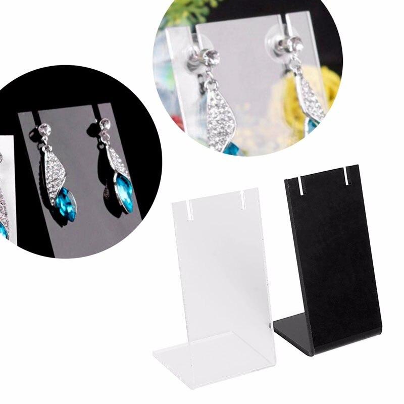 Jewelry Earring Ear Studs Organizer L Style Show Display Stand Holder Mini show Rack недорго, оригинальная цена