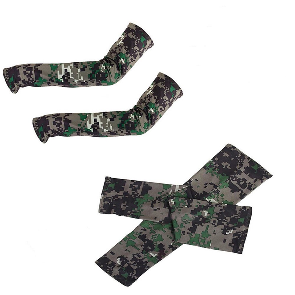 Hot Sale Camouflage Cooling Arm Sleeves Sun UV Protection Cover Golf Cycling Bike Sports Over-sleeves Arm Warmers
