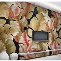 Beibehang Benutzerdefinierte Tapete 3d Foto Wandmalerei Handgemalte Geprägte Wohnzimmer Papel de parede TV Hintergrundbild