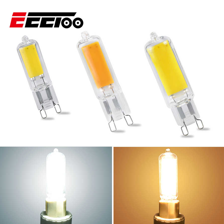 EeeToo Mini G9 LED Bulb Lighting 5W 7W 10W COB Glass Body LED Lamp Dimmable 220V Replace Halogen Ultra Bright Light Bulbs Home