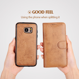 Image 4 - LANCASE For Samsung Galaxy S7 Edge Case Wallet Magnetic Flip PU Leather Case For Samsung S8 S9 S9 Plus S10 S10 PLUS Note 10 Case