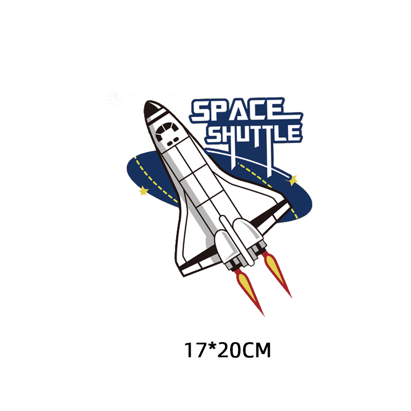 Airplane Patch Iron on Transfer Space Shuttle Patches for Clothing DIY T shirt Heat Transfer Vinyl Appliques on Clothes Press in Patches from Home Garden
