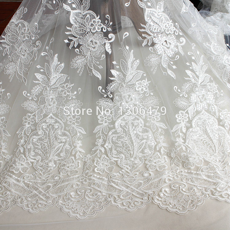 Buy wedding dress lace decoration fabric for Wedding dress fabric stores
