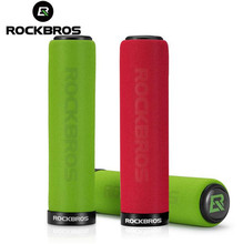 RockBros Bike Cycling Handlebar Grips Bicycle MTB Silicone Sponge Bike Lock On  Grips Anti-skid Shock-absorbing Bike Part rockbros bike grips mtb silicone sponge bike handlebar grips racing riding manopole mtb grips bicycle accessories