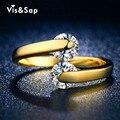 Женское кольцо с золотым покрытием с двумя камушками V18KR010