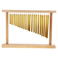 20 Tones Chimes with Hand Drum with Wooden Stand Musical Instrument Musical Toy Gift for Child