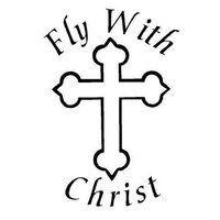 12.2X18CM FLY WITH CHRIST Religious Cross Christian Funny Vinyl Decals Car-styling Car Sticker S8-0159