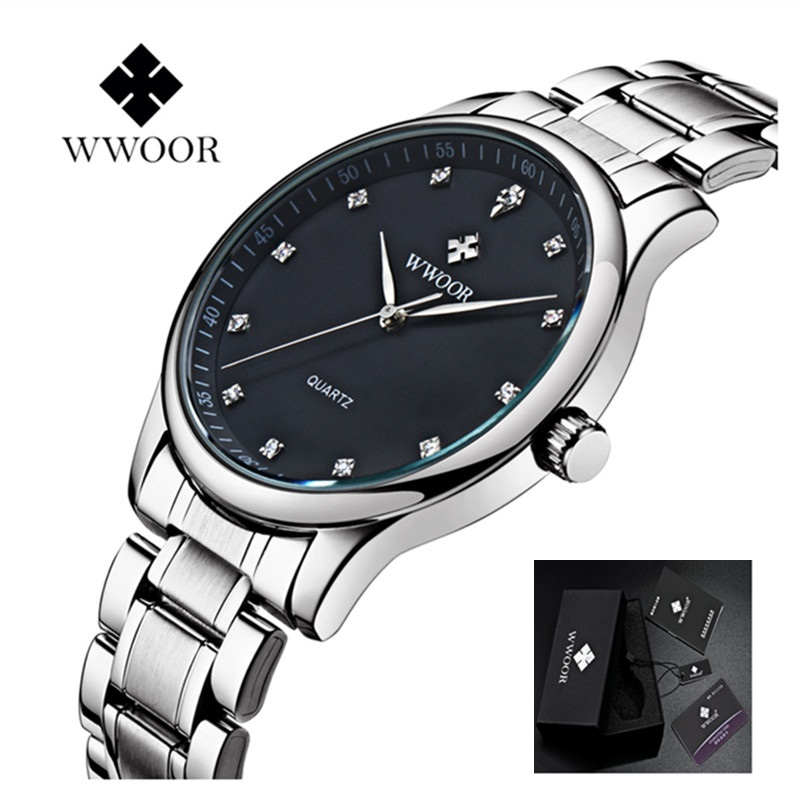 Men Watch Luxury Waterproof Sports Watches Men's Casual Quartz Watch Diamonds Hour Stainless Steel Wrist Watches Male Clock sewor new arrival luxury brand men watches men s casual automatic mechanical watches diamonds hour stainless steel sports watch