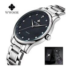 Reloj de los hombres de Lujo Impermeable Relojes Deportivos Hombres Reloj de Cuarzo Ocasional de Diamantes Hora Relojes de Pulsera Reloj Masculino de Acero Inoxidable
