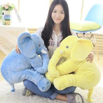 40 см/60 см Высота Большой плюшевый слон кукла игрушка Дети Спящая задняя подушка милый плюшевый слон ребенок сопровождать кукла рождественс...