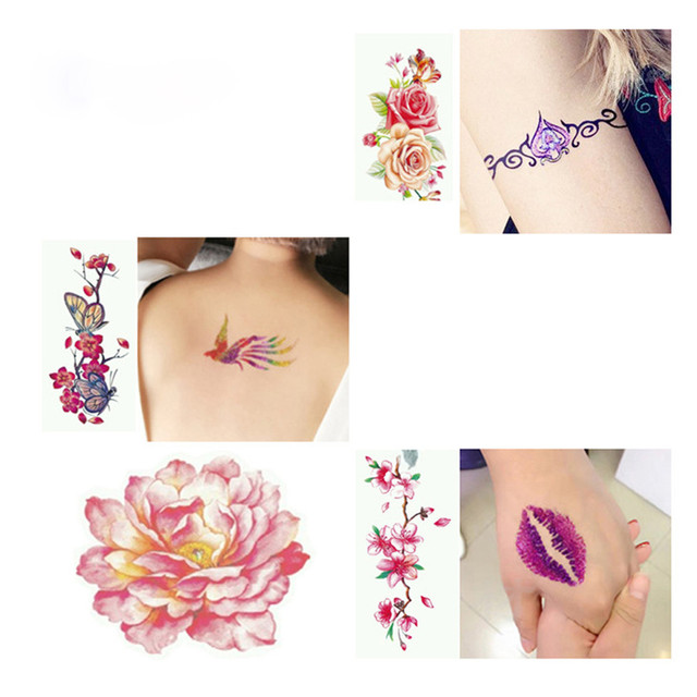 Professional Fashion Temporary Glitter Tattoo Powder Body Painting Kit Brushes Glue Stencils Tattoo Accessories Wholesale Retail