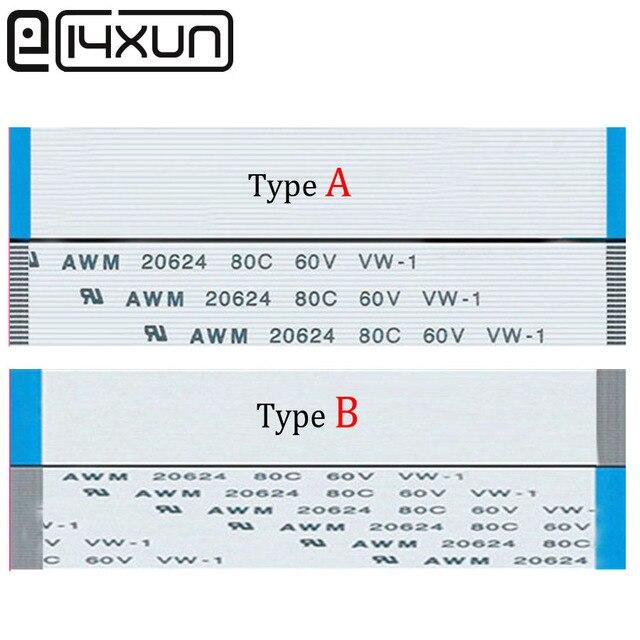 "EClyxun 2 יחידות FPC FFC גמיש כבל שטוח 1.0 מ""מ pitch 30 פין 100 מ""מ Isotropy או אנאיזוטרופיה B בכבלים, 20624 80C 60 V VM-1"