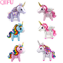 QIFU Baby Shower Unicorn Decor Party Decoration Pink Girl Supplies Birthday Decorations Unicornio