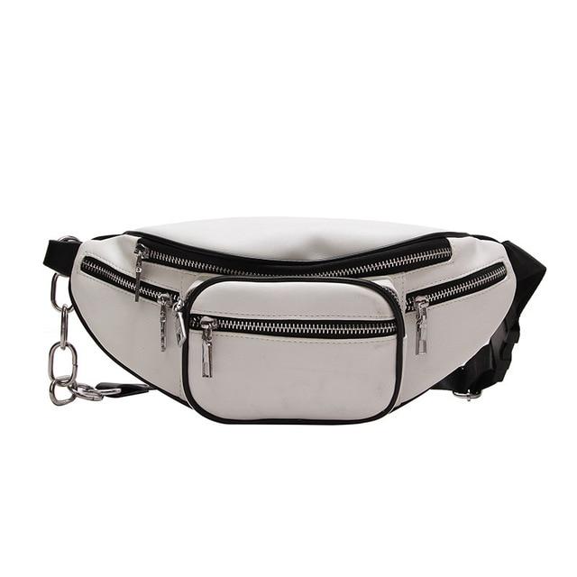 2018 New Women Waist Bag Multifunction Women Waist Pack Fashion Leather Phone Bags Small Belt Bag Cool Fanny Packs Women 2 colo