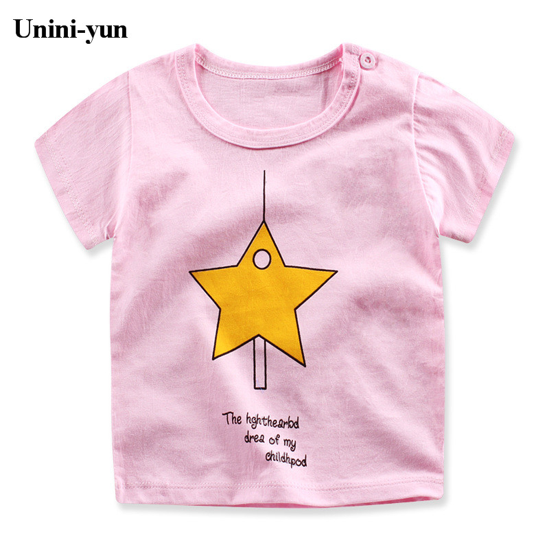 2017 Cheap Childrens white clothes Baby Boys Kid T-Shirt Summer white Short sleeve Tops Kids clothing Baby Girls 24M2T3T4T5T6T7T