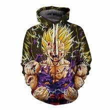Neueste design Anime Dragon Ball Z Super Saiyan Mit Kapuze Sweatshirts wut Goku 3d print Pullover Frauen Männer Langarm Oberbekleidung