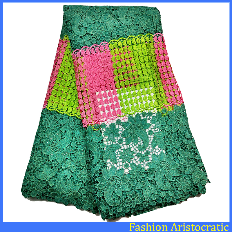New design style High Quality African mesh Lace for wedding lace fabric / French Lace with stone 5 yards LBL0922-001