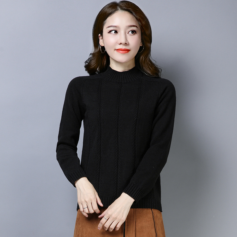3XL 4 Colors Brand Sweater Fall Winter Women Short Irregular Sweater New Solid Knit Turtleneck Sweater Bottoming Pullover Female