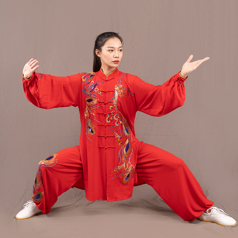 Just 2019 Summer Tai Performance Clothing Long Sleeve Kungfu Uniform Wushu Taichi Uniform Clothes Man Woman Chinese Kung Fu Home