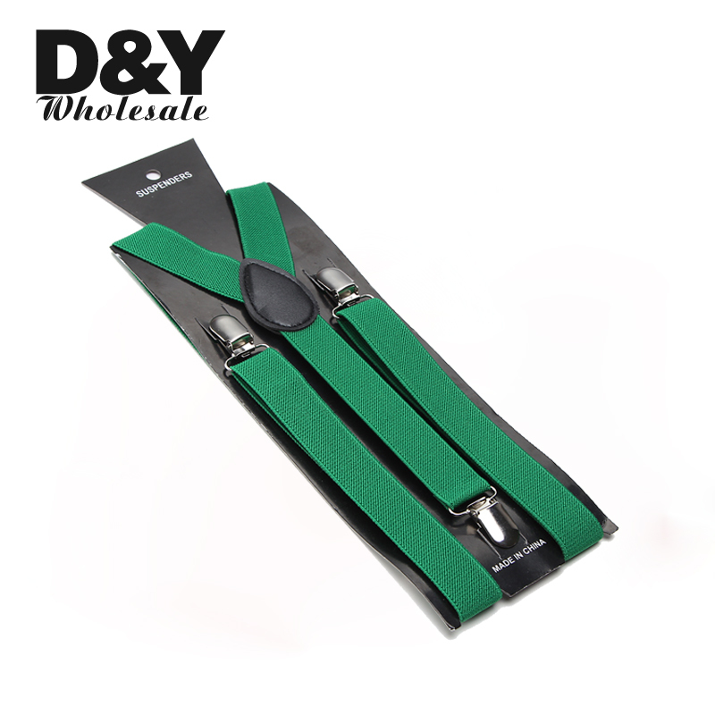 Women MenS Shirt Suspenders For Trousers Pants Holder Blackish Green Clip-on Braces Elastic Slim Y- Back Braces Wholesale Gallus
