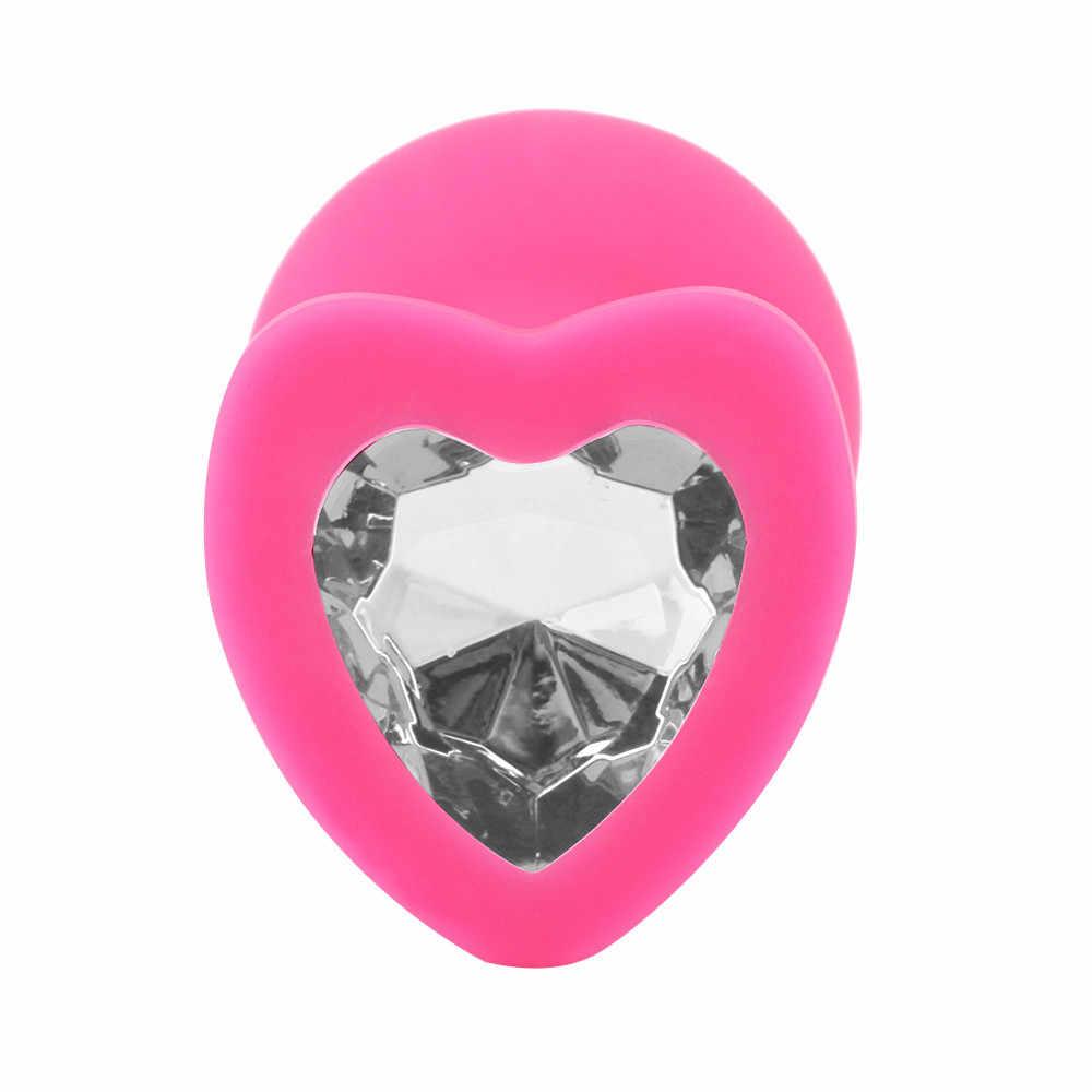 1 шт., основа в форме сердца с ювелирным украшением, камень по дню рождения, Анальная пробка, Розовая Жемчужина, секс, анальные шарики, хрустальные украшения, сердце, попка, секс-игрушка/пробка