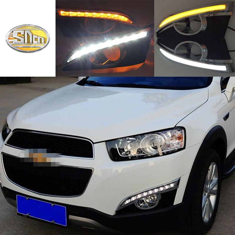 Per Chevrolet Captiva 2011 2012 2013 Luce di Segnale di girata Auto Relè-styling LED DRL di Giorno Corsa e Jogging Luci con nebbia foro della lampada