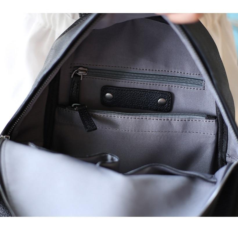 Casual Pour Sacs dark Cuir Mochila Sac Daypacks De Filles Cartable Noir Bagpack Dos Femmes En Red Les Noir Simple Mode À gris Véritable Iqfz1xIa