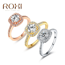 ROXI  Exquisite Rings platinum plated with CZ diamond,fashion Environmental Micro-Inserted Jewelry,101009438