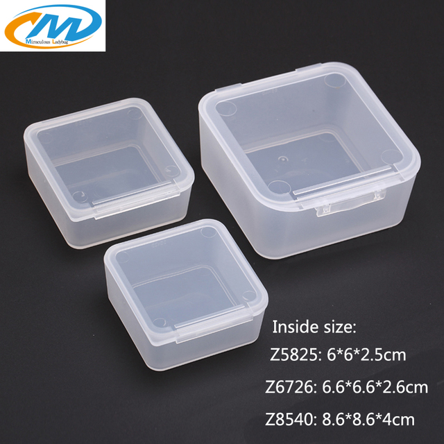 Free Shipping Transparent Plastic Small square Boxes Packaging Thicken Storage Box lidded Jewelry box Accessories Finishing & Free Shipping Transparent Plastic Small square Boxes Packaging ...