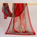 Feitong Moda Vintage Señora de Las Mujeres de la Bufanda de Seda Larga Bufanda de La Gasa Suave de la Estola de Marca Bufandas echarpes fulares femme