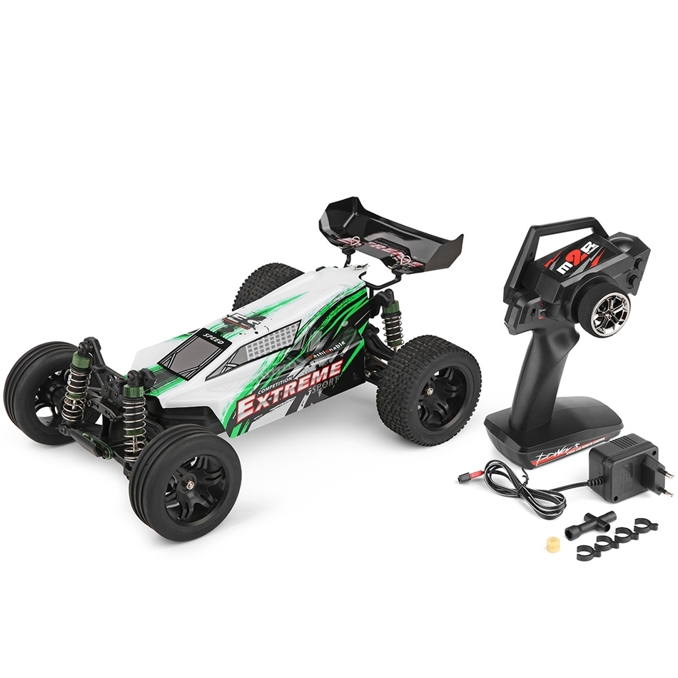 все цены на  WLTOYS A303 1:12 Scale 2.4G 2WD 35km/h High power 390 motor Rechargeable Shockproof RC Off-road Electric Car RTR  онлайн