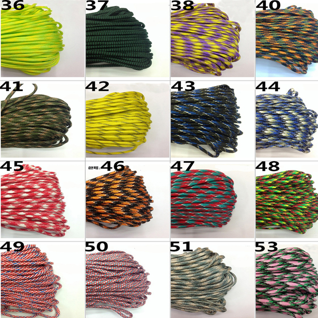 10M Paracord 550 Paracord Parachute Cord Lanyard Rope Mil Spec Type III 7 Strand Climbing Camping Survival Paracord 4