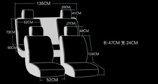 Online Shop Queens Luxury Car Seat Covers Full Surround Universal