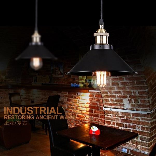 Loft Style Retro Iron Droplight Edison Vintage Pendant Light Fixture For Dining Room Bar Restaurant Table Hanging Lamp Lighting